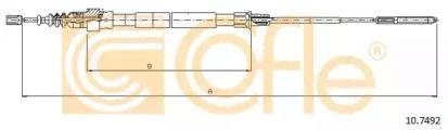 Трос ручника на Фольксваген Пассат 'COFLE 10.7492'.