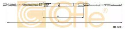 Трос ручника на VOLKSWAGEN PASSAT 'COFLE 10.7493'.