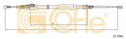 Трос ручника на AUDI TT 'COFLE 10.7560'.