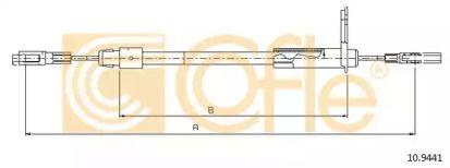 Трос ручника 'COFLE 10.9441'.