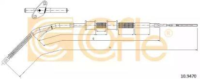 Трос ручного гальма на Mercedes-Benz G-Class  COFLE 10.9470.