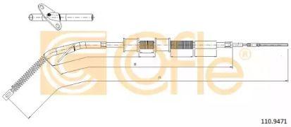 Трос ручного гальма на Mercedes-Benz G-Class  COFLE 10.9471.