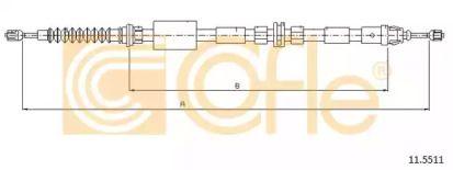 Трос ручного гальма 'COFLE 11.5511'.