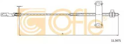 Трос ручника 'COFLE 11.5671'.