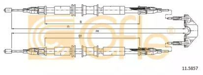 Трос ручника 'COFLE 11.5857'.