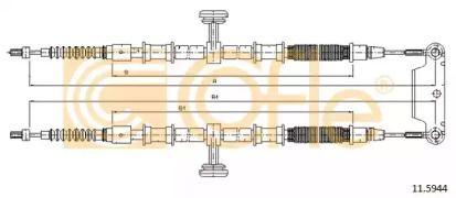 Трос ручника COFLE 11.5944.