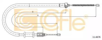 Трос ручника COFLE 11.6676.