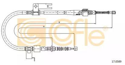 Трос ручного гальма на MAZDA PREMACY 'COFLE 17.0589'.