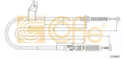Трос ручного гальма на MAZDA MX-5 COFLE 17.0597.