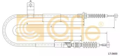 Трос ручного гальма на Мазда МХ5 COFLE 17.0600.