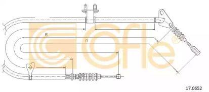 Трос ручного гальма на MAZDA MX-3 'COFLE 17.0652'.