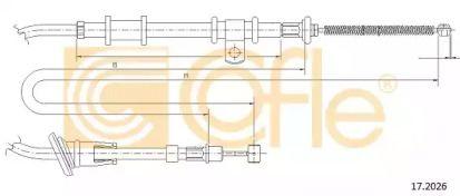 Трос ручного гальма на Мітсубісі Карізма  COFLE 17.2026.