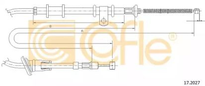 Трос ручного гальма на MITSUBISHI CARISMA  COFLE 17.2027.