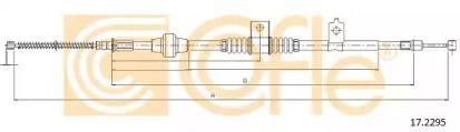Трос ручного гальма на Мітсубісі АСХ 'COFLE 17.2295'.