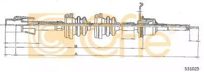 Тросик спидометра на Фольксваген Гольф 'COFLE S31025'.