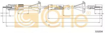 Тросик спидометра на Фольксваген Пассат 'COFLE S31034'.