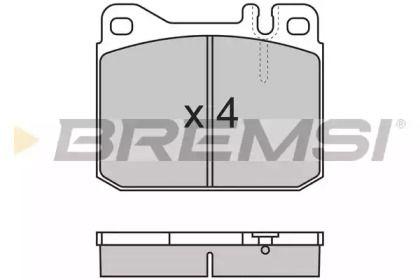 Переднї гальмівні колодки 'BREMSI BP2172'.