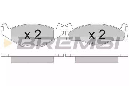 Передняя тормозные колодки на Сеат Толедо 'BREMSI BP2261'.