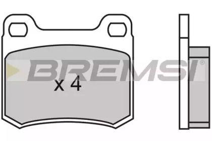 Заднї гальмівні колодки на Mercedes-Benz W210 BREMSI BP2314.