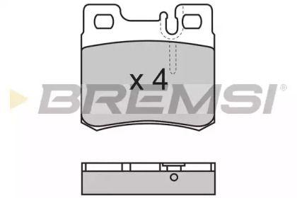 Заднї гальмівні колодки на Мерседес W210 BREMSI BP2495.