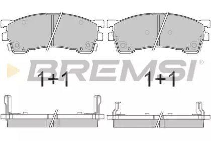 Переднї гальмівні колодки на MAZDA MX-6 'BREMSI BP2622'.