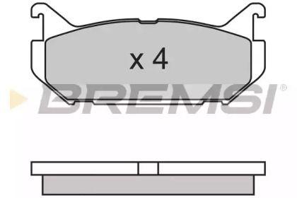 Заднї гальмівні колодки на MAZDA XEDOS 6 BREMSI BP2632.