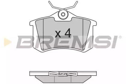 Задние тормозные колодки на SEAT ALTEA 'BREMSI BP2807'.