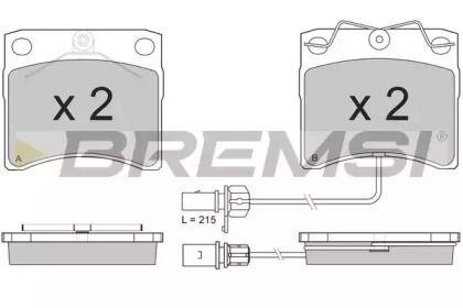 Переднї гальмівні колодки 'BREMSI BP2869'.