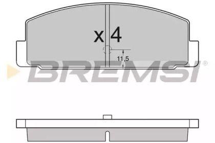 Заднї гальмівні колодки на MAZDA PREMACY  BREMSI BP2954.