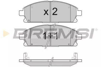 Переднї гальмівні колодки 'BREMSI BP3068'.