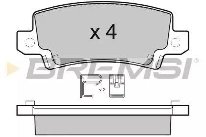 Задние тормозные колодки BREMSI BP3070.