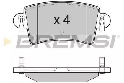 Задні гальмівні колодки 'BREMSI BP3074'.