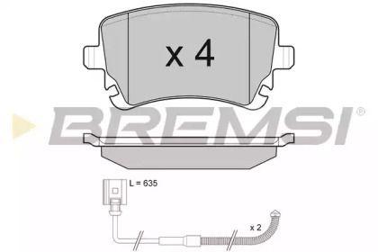 Заднї гальмівні колодки 'BREMSI BP3087'.