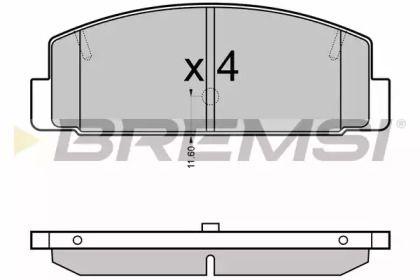 Заднї гальмівні колодки на MAZDA PREMACY  BREMSI BP3090.