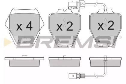 Переднї гальмівні колодки 'BREMSI BP3151'.