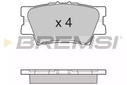 Задні гальмівні колодки 'BREMSI BP3252'.