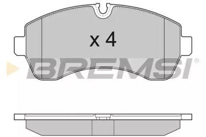 Передние тормозные колодки BREMSI BP3290.