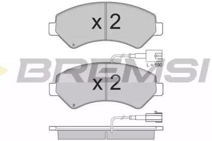 Переднї гальмівні колодки 'BREMSI BP3323'.