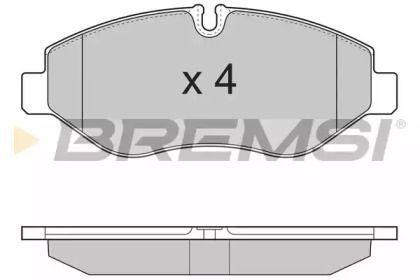 Переднї гальмівні колодки 'BREMSI BP3324'.