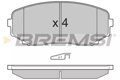 Переднї гальмівні колодки на Мазда СХ9 BREMSI BP3332.