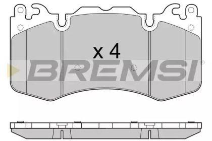 Передні гальмівні колодки 'BREMSI BP3414'.