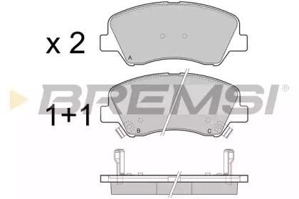 Передні гальмівні колодки 'BREMSI BP3470'.