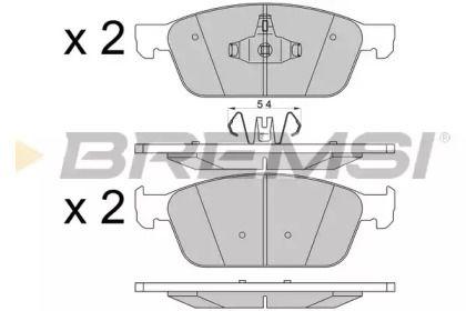 Передние тормозные колодки BREMSI BP3546.