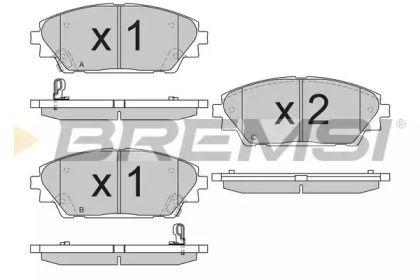 Переднї гальмівні колодки на Мазда СХ3 BREMSI BP3556.