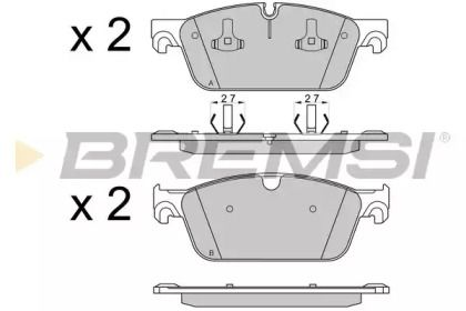 Переднї гальмівні колодки на Мерседес ГЛЕ  BREMSI BP3565.
