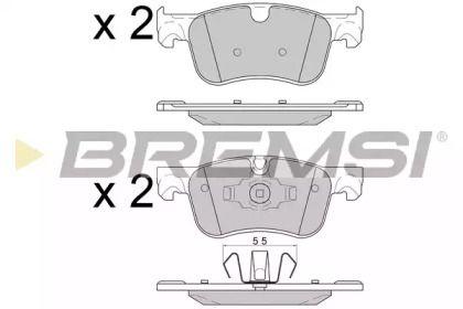 Переднї гальмівні колодки 'BREMSI BP3597'.
