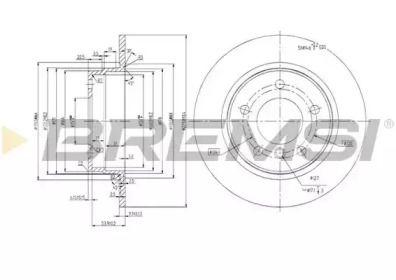 Задний тормозной диск на БМВ 3 'BREMSI DBA249S'.