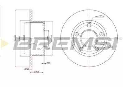 Задний тормозной диск на AUDI 100 'BREMSI DBA321S'.