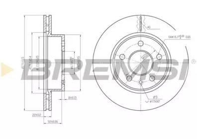 Вентилируемый передний тормозной диск на MERCEDES-BENZ VITO 'BREMSI DBA860V'.