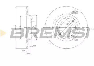 Передний тормозной диск 'BREMSI DBA995S'.
